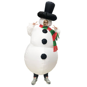 Christmas Snowman Xmas Olaf Frozen Inflatable Blow Up Costume For Adult Kids