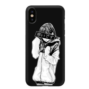 SAMUIDESU IT'S COLD Sad Japanese Anime Aesthetic Silicone Soft Case for iPhone