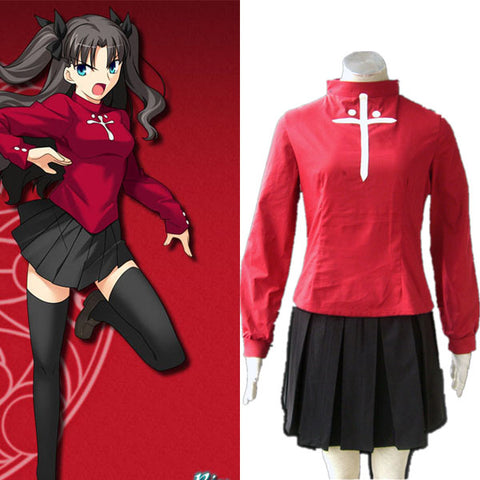 Fate Stay Night Tosaka Rin Halloween Cosplay Costume