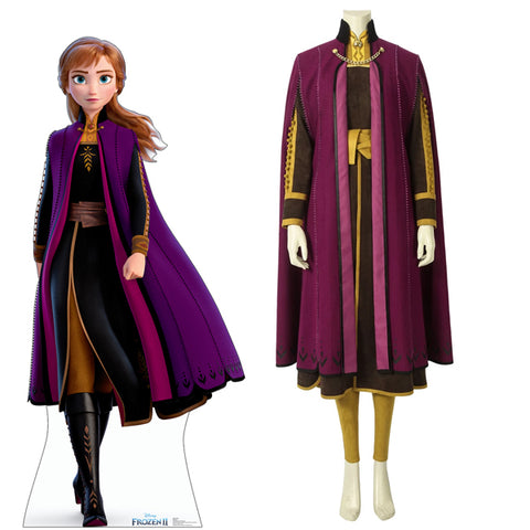 Frozen 2 Anna Halloween Cosplay Costume 2019 Movie Version Full Set High Quality