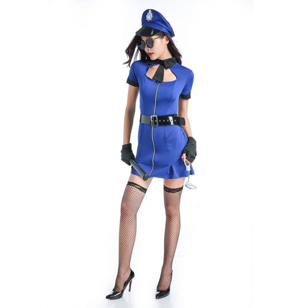 Sexy Cop Halloween Costume For Women Black Outfit