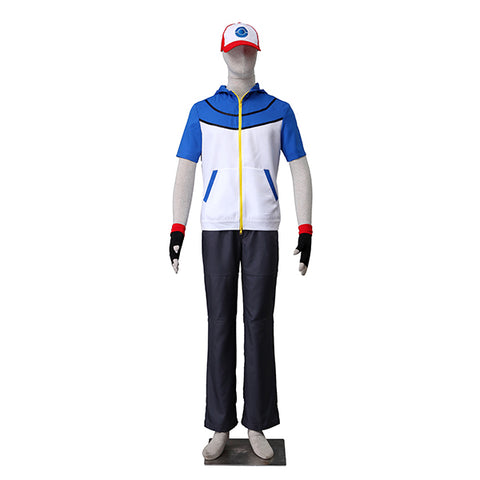 Pocket Monster Pokemon BW Go Ash Halloween Ketchum Cosplay Costume