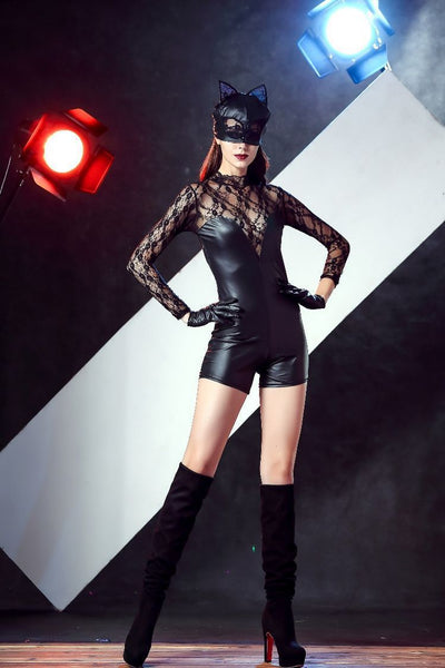 Sexy Halloween Costume Catwoman Catgirl Club Party Clothing