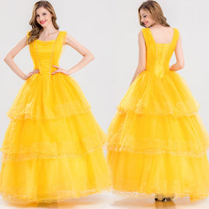 Beauty and the Beast Belle Princess Dress Halloween Costume For Women
