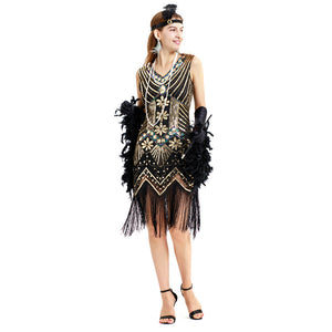 1920s Flapper Dress Vintage Costume Great Gatsby Women Party Dress