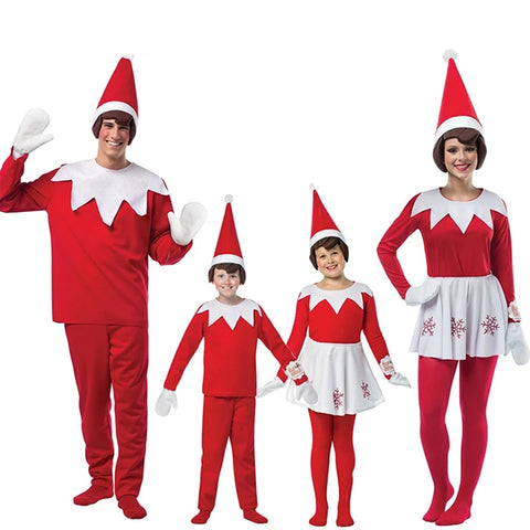 Elf On The Shelf Family Christmas Costume For Kids Adults Elf Costume