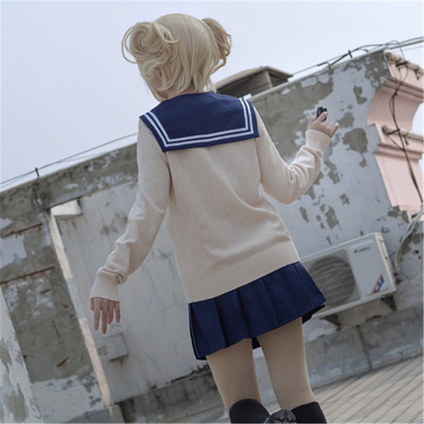 My Hero Academia Himiko Toga Cosplay Costume for Women Japanese school Girl Uniform Sailor suit Full Sets
