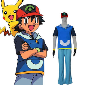 Pocket Monster Pokemon AG Ash Ketchum Halloween Cosplay Costume