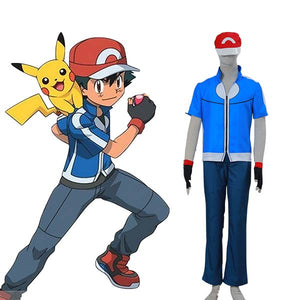 Pocket Monster Pokemon XY Ash Ketchum Halloween Cosplay Costume