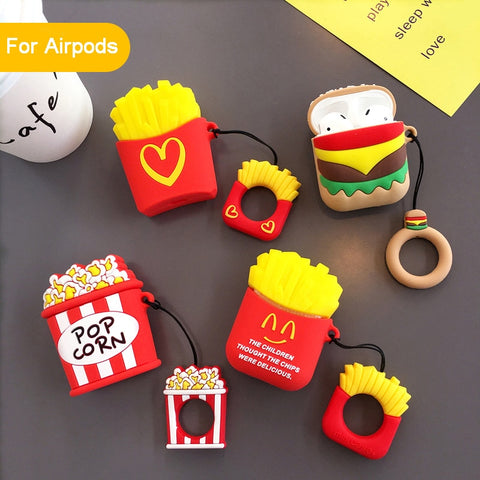 Fast Food AirPods Case Kawaii Wireless Earphone Case For Apple Airpods