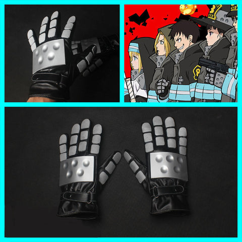 Fire Force Enen no Shouboutai Anime Cosplay Gloves Props