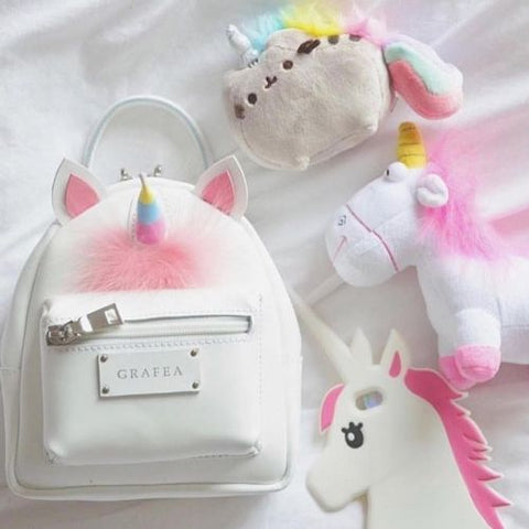 Kawaii Rainbow Unicorn Plush Mini Backpack For Girls Cute Unicorn Shoulder Bag
