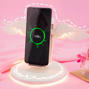 Angel Wings Wireless Charger 10W Fast Charge with Night Light