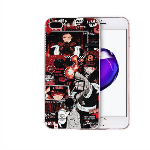 Fire Force Enn Enn No Shouboutai Shinra Kusakabe Cool Soft Phone Case For Iphone