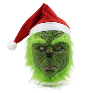 How The Grinch Stole The Grinch Halloween Santa Cosplay Mask