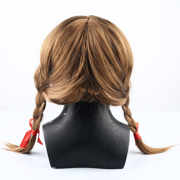2019 New Movie Annabelle Halloween Cosplay Mask With Wig