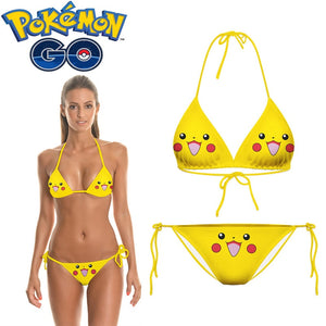 Pokemon Pikachu Cosplay Costume Bikini Swimsuits