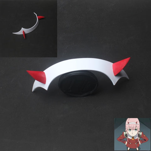 DARLING in the FRANXX Zero Two Code 002 Cosplay Prop Headwear PVC Horn Headband Hairband
