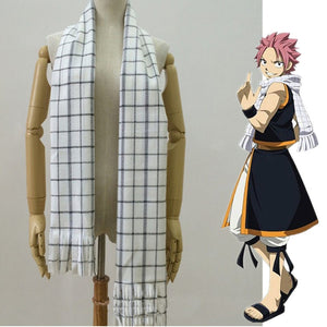 Fairy Tail Anime Scarf Natsu Dragneel Cosplay Costume Props