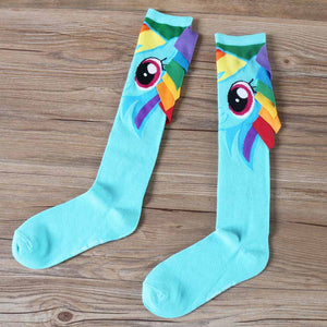 My Pony Unicorn Cute Socks Rainbow Dash Little Horse Cosplay Cotton Adult Stockings Fit Four Seasons
