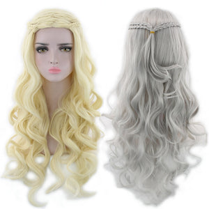 Game Thrones Daenerys Targaryen Halloween Cosplay Wig
