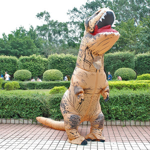 Blow Up Dinosaur Halloween Costume Adult Kids Inflatable T REX Costumes