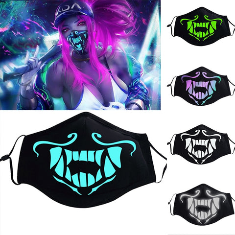 League of Legends LOL KDA K/DA Akali Mask Assassin Night Lights Cosplay Costumes Prop