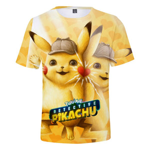 Detective Pikachu 3D T-shirt 2019 Pokemon Movie Men's T-shirt