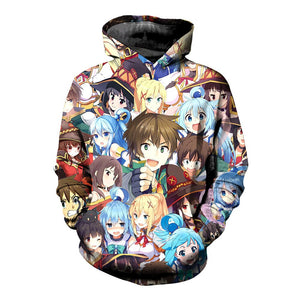 Anime Konosuba 3D Hoodies Men's Hoodies Pullover