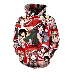 Konosuba God Blessing on This Wonderful World Chirtsmas Anime Hoodies