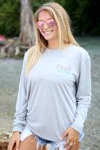 Load image into Gallery viewer, Don's Paradise Fisherman Shirt - Turquoise/Coral - Grey