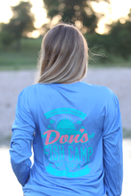 Load image into Gallery viewer, Don's Paradise Fisherman Shirt - Turquoise/Coral - Colombia Blue