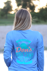 Don's Paradise Fisherman Shirt - Turquoise/Coral - Colombia Blue