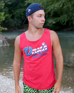 Don's USA Tank Top - Red/White/Blue - Red