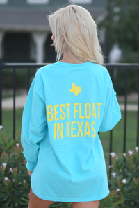 Don's Classic Long Sleeve - Orange/Yellow - Lagoon Blue