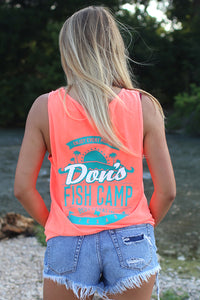 Don's Paradise Tank Top - Mint/White - Coral