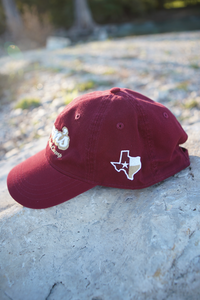 Don's Dad Hat - Gold/White - Maroon