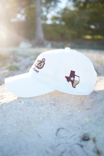 Load image into Gallery viewer, Don's Dad Hat - Maroon/Gold - White