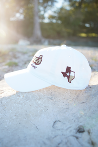 Don's Dad Hat - Maroon / Gold - White