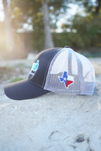Load image into Gallery viewer, Don's Fisherman Hat - Aqua/White - Navy
