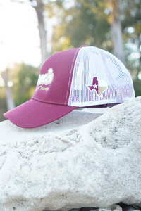 Don's Fisherman Hat - White / Gold - Maroon