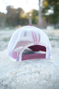 Don's Fisherman Hat - White/Gold - Maroon