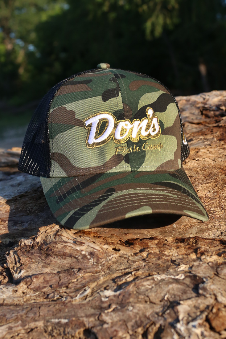 Don's Fisherman Hat - Gold / White - Camo