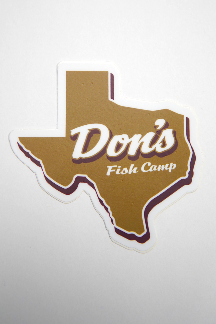 Don's Texas Sticker - Maroon/Gold