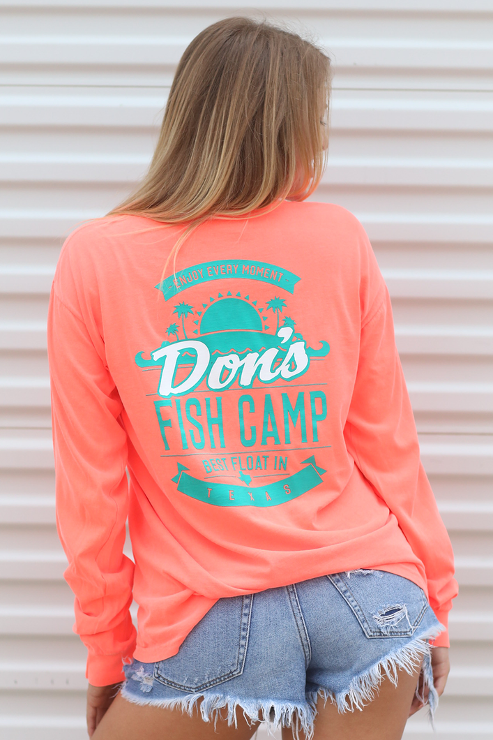 Don's Paradise Long Sleeve - Mint/White - Coral