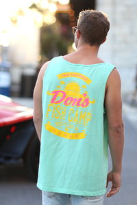 Don's Paradise Tank Top - Coral/Yellow - Mint