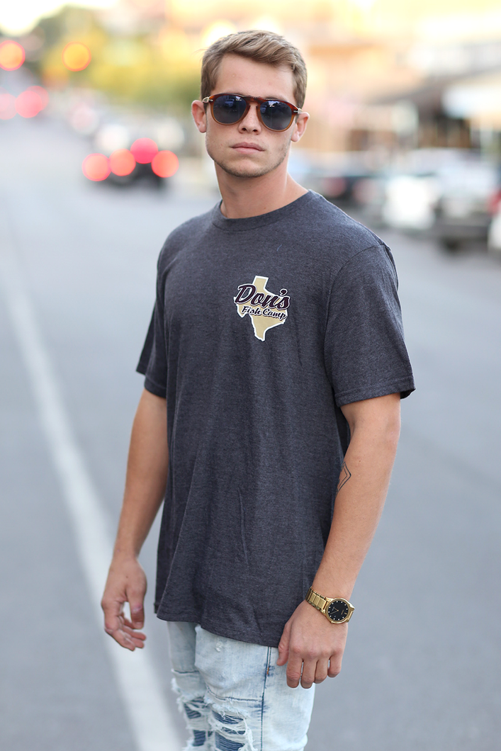 Don's Texas Maroon/Gold Short Sleeve - Maroon/Gold - Charcoal