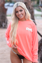 Load image into Gallery viewer, Don's Palm Tree Long Sleeve - Mint/White - Coral