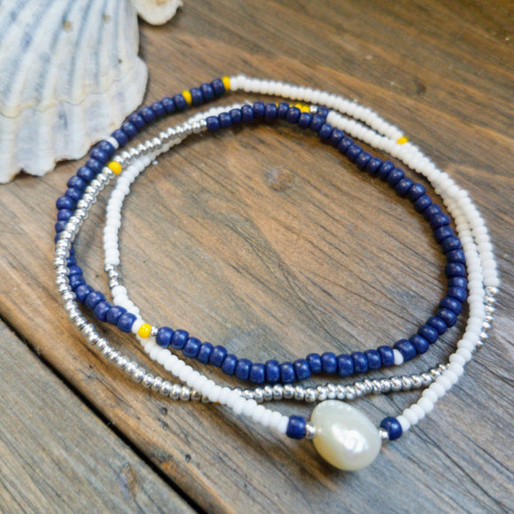 Beaded Wrap Stretch Bracelet