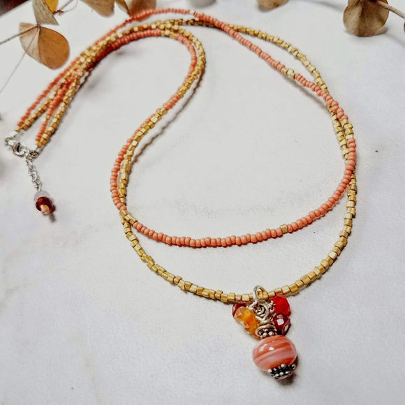 Carnelian Gemstone Pendant Necklace - Impromptu Jewelry